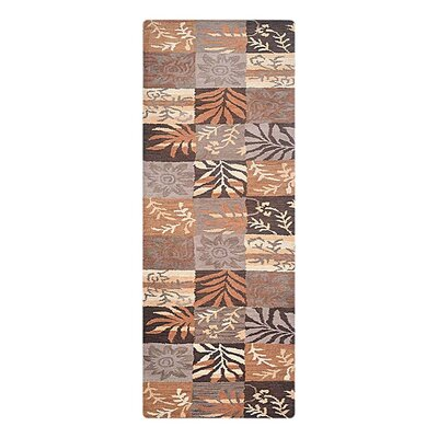 Campas Hand-Tufted Brown/Beige Area Rug Rug Size: Runner 26 x 8