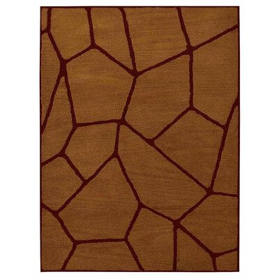 Freida Hand-Tufted  Gold/Red Area Rug Rug Size: Rectangle 4 x 6