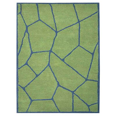 Freida Hand-Tufted Green/Blue Area Rug Rug Size: Rectangle 3 x 5