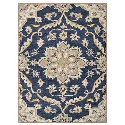 Creamer Hand-Tufted Cotton/Wool Charcoal Area Rug Rug Size: Rectangle 5 x 8