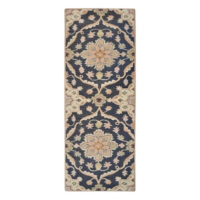 Creamer Hand-Tufted Cotton/Wool Charcoal Area Rug Rug Size: Runner 26 x 8