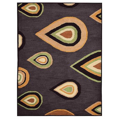 Johansson Hand-Tufted Charcoal Area Rug Rug Size: Rectangle 5 x 8