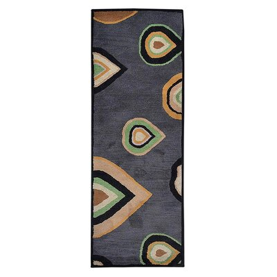 Johansson Hand-Tufted Wool/Cotton Charcoal Area Rug