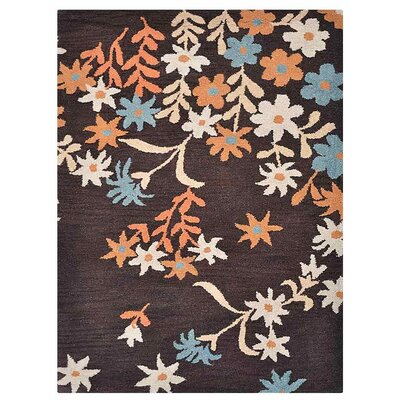 Campas Hand-Tufted Wool/Cotton Brown Area Rug Rug Size: Rectangle 5 x 8