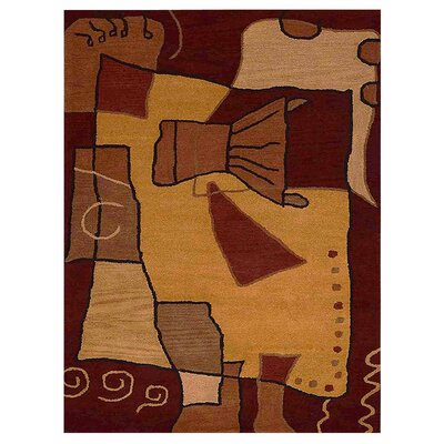 Johansson Hand-Tufted Brown/Rust Area Rug Rug Size: Rectangle 9 x 12