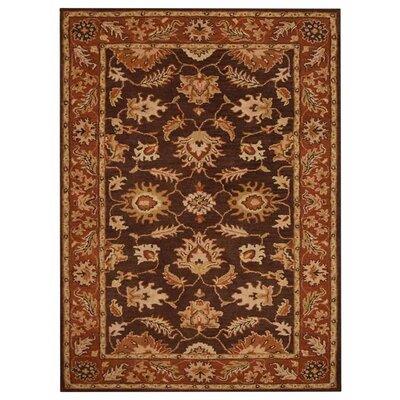 Creamer Hand-Tufted Brown/Rust Area Rug Rug Size: Rectangle 5 x 8
