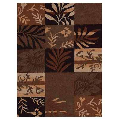 Campas Hand-Tufted Brown/Black Area Rug Rug Size: Rectangle 5 x 8