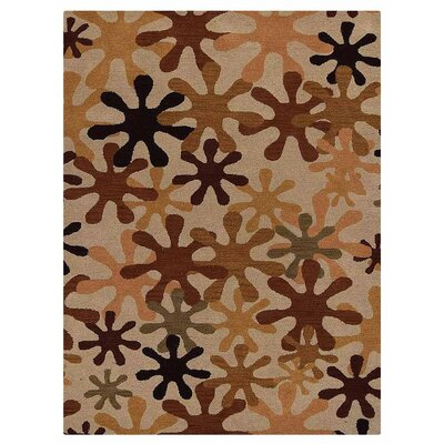 Johansson Hand-Tufted Cream Area Rug Rug Size: Rectangle 5 x 8