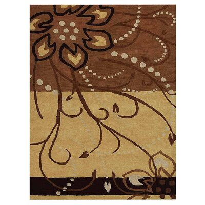 Campas Hand-Tufted Wool/Cotton Light Brown Area Rug Rug Size: Rectangle 4 x 6