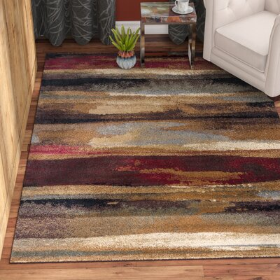 Hartle Brown/Beige Area Rug Rug Size: Rectangle 5 x 8