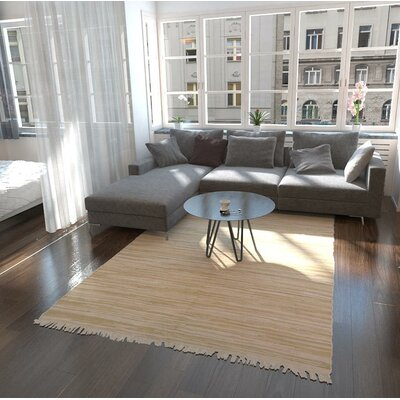 Brody Hand Woven Wool Ivory Area Rug Rug Size: Rectangle 6 7 x 9 10