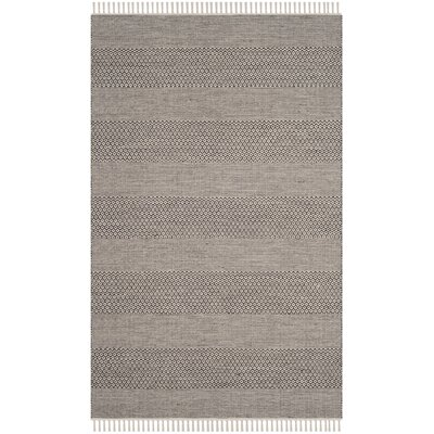 Oxbow Hand-Woven Ivory/Anthracite Area Rug Rug Size: Rectangle 6 x 9