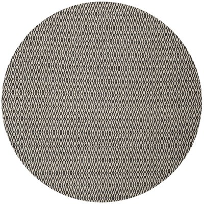Shevchenko Place Hand-Woven Cotton Gray Area Rug Rug Size: Round 6'