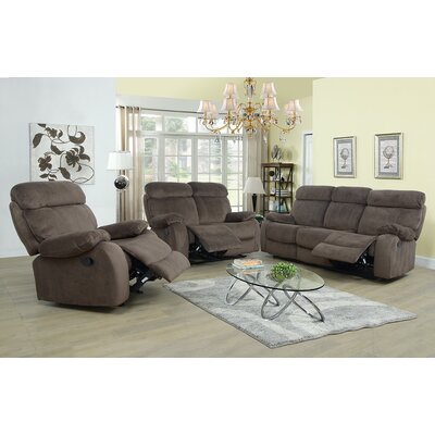 Evins 3 Piece Living Room Set Upholstery: Tan