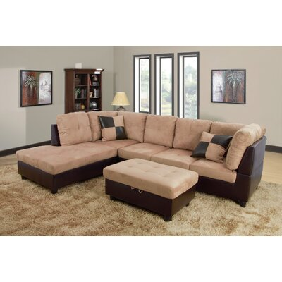Favela Sectional with Ottoman Orientation: Left Hand Facing, Upholstery: Beige