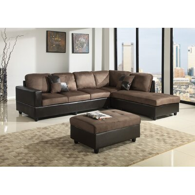 Fearn Sectional with Ottoman Orientation: Right Hand Facing