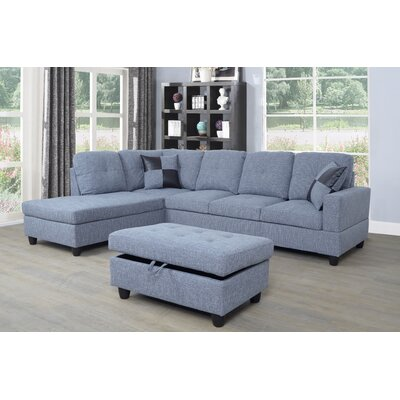 Riehlin Sectional with Ottoman