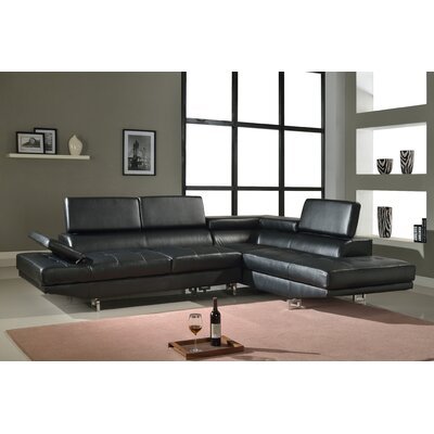 Chesterfield Sectional Upholstery: Black