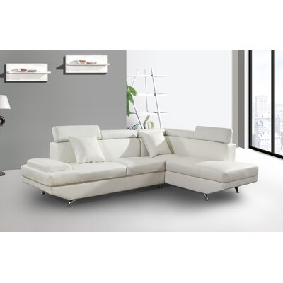 Chew Magna Corner Sectional Orientation: Right Hand Facing, Upholstery: Off White