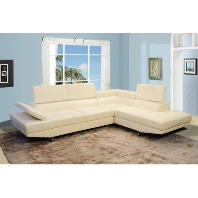 Chesterfield Sectional Upholstery: White