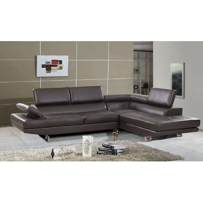 Chesterfield Sectional Upholstery: Brown