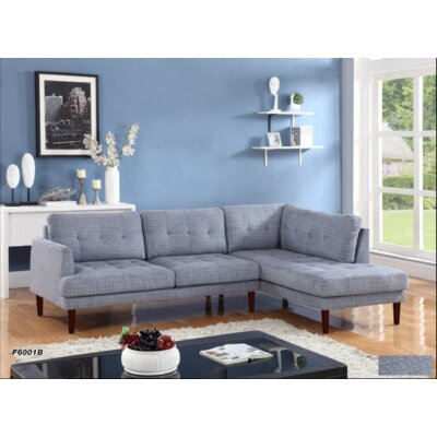 Whitely Sectional Orientation: Right Hand Facing, Upholstery: Flint