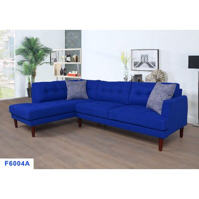 Whitely Sectional Orientation: Left Hand Facing, Upholstery: Azure