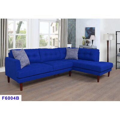 Whitely Sectional Orientation: Right Hand Facing, Upholstery: Azure