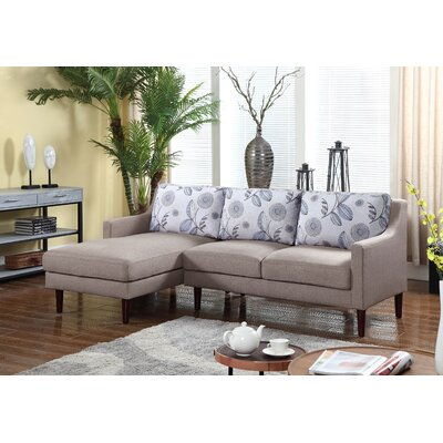 Febus Sectional Orientation: Left Hand Facing, Upholstery: Beige
