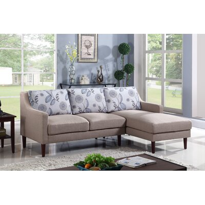 Febus Sectional Orientation: Right Hand Facing, Upholstery: Beige