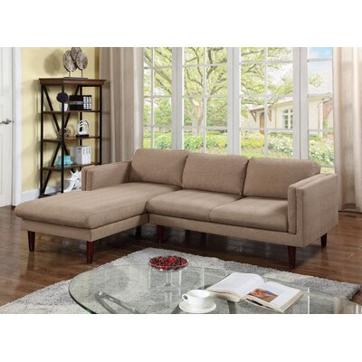 Fleishman Sectional Orientation: Left Hand Facing, Upholstery: Brown