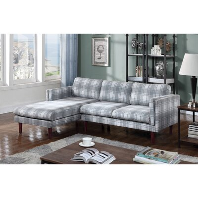 Fleishman Sectional Orientation: Left Hand Facing, Upholstery: Gray