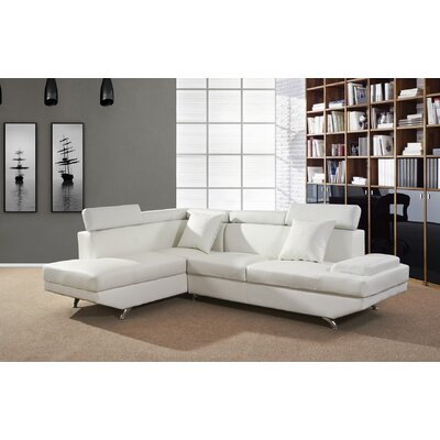 Chew Magna Corner Sectional Orientation: Left Hand Facing, Upholstery: Off White