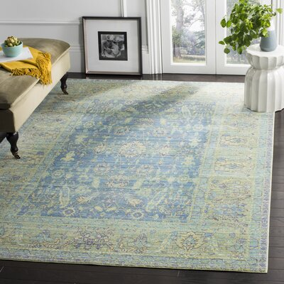 Doline Blue/Yellow Area Rug Rug Size: Rectangle 6 x 9