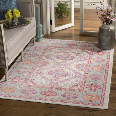 Bangou Spa/Fuchsia Area Rug Rug Size: Rectangle 5 x 7