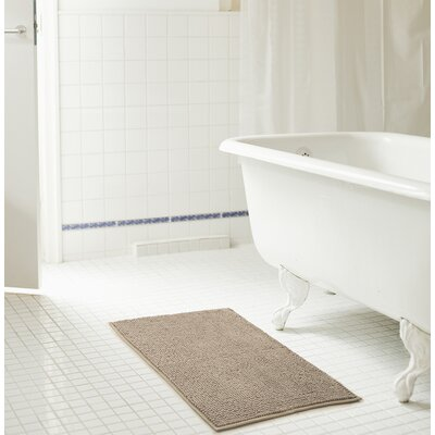 Bowden Short Pile Chenille Bath Rug Color: Taupe, Size: 17 x 24