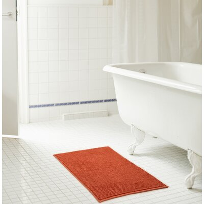 Bowden Short Pile Chenille Bath Rug Color: Terracotta, Size: 17 x 24
