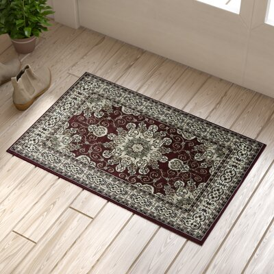 Meredosia Red/Brown Area Rug Rug Size: 18 x 27