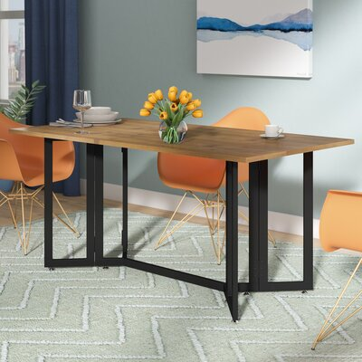 Adams Extendable Dining Table Finish: Weathered Oak/Black