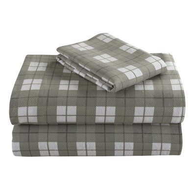 Geoffroy Flannel 4 Piece 100% Cotton Sheet Set Size: Queen