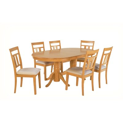 Alvy 7 Piece Dining Set Color: Oak