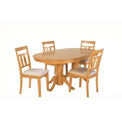 Alvy 5 Piece Dining Set Color: Oak
