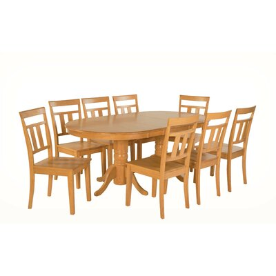 Alvy 9 Piece Dining Set Color: Oak