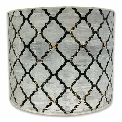 Modern Trendy 10 Paper Drum Lamp Shade Color: Gray
