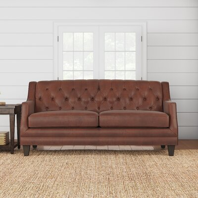 Kashvi Leather Sofa Upholstery: Steamboat Chestnut