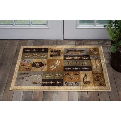 Tilson Brown Area Rug Rug Size: Rectangle 2 x 3