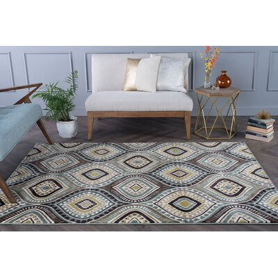 Martello Blue/Beige Area Rug Rug Size: Rectangle 7 x 10