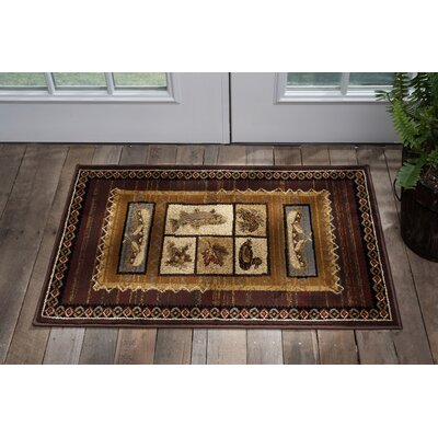 Stanley Brown Area Rug Rug Size: Rectangle 2 x 3
