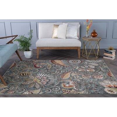 Concord Seafoam/Mocha Area Rug Rug Size: Rectangle 7 x 10