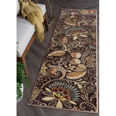 Brimmer Brown Area Rug Rug Size: Runner 2 x 10